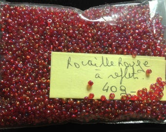 Pearl red seed beads 40 G