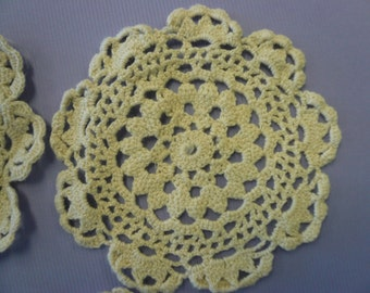 Cotton Crocheted Doillies NOS (12)