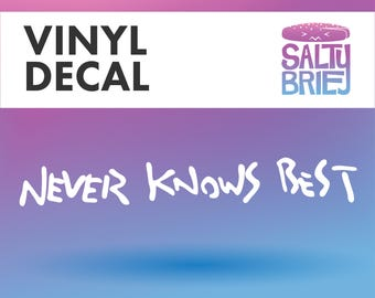 FLCL Fooly Cooly Anime Never Knows Best Mamimi quote cosplay vinyl decal single color - Salty Brie