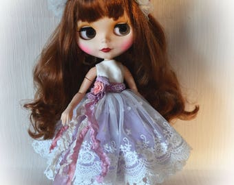 "Set for Blythe ""Tenderness"".Dress Blyth.   for Blythe/Pullip  dolls clothes. Blythe Dress"