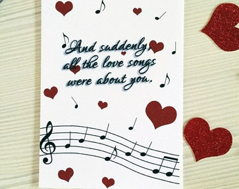Music Notes Valentine's Day Card, Valentine's Day, Love