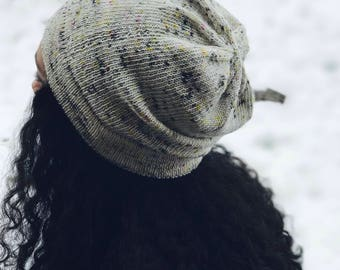Hat Knitting Pattern Slouchy Beanie