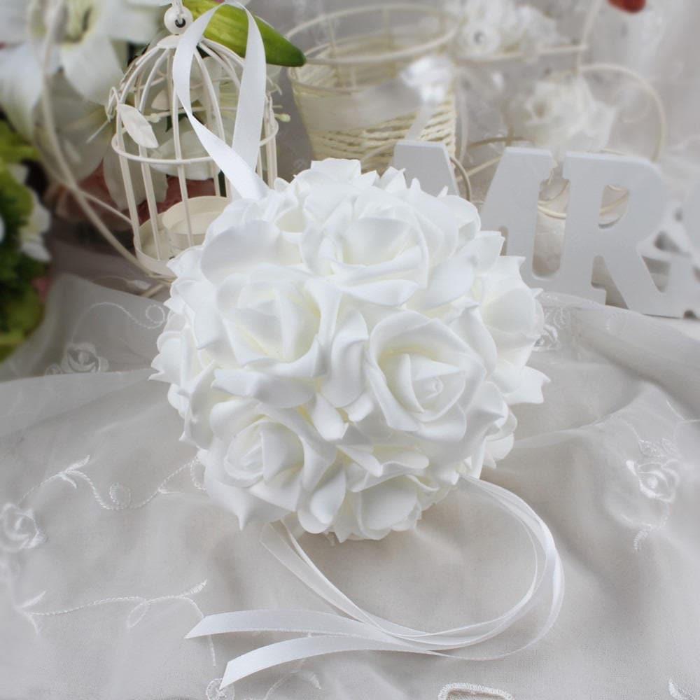 Ball Of Flowers Foam Eva White Or Light Pink For Wedding Or