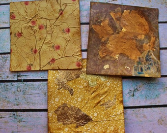3x Hand decorated Project Life Cards For Scrapbooking, Journaling and Penpal Snailmail