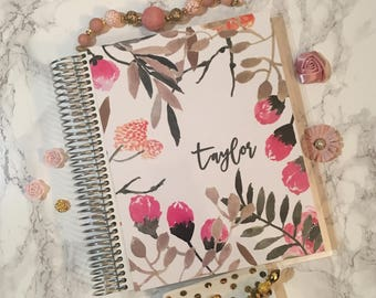 Planner Cover for Erin Condren Planner, Happy Planner, Recollections Planner, A5 Dashboard, planner insert, floral, A5, floral planner cover