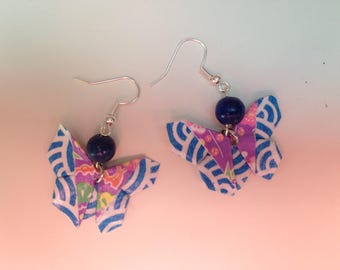 Earrings and ring pace origami