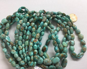 Arizona Sleeping Beauty Turquoise Ovals Smooth