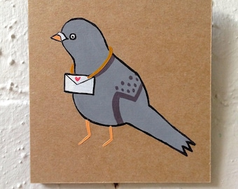 Original Mini Artwork | My Homing Pigeon