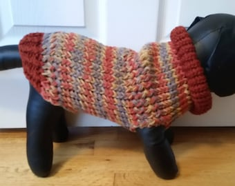 Medium Dog Sweater, Medium Dog Clothes, Medium Dog Outfit, Pet Sweaters for Dogs, Poodle Sweater, Chilly Dogs, Autumn Print Dog Sweater, Dog