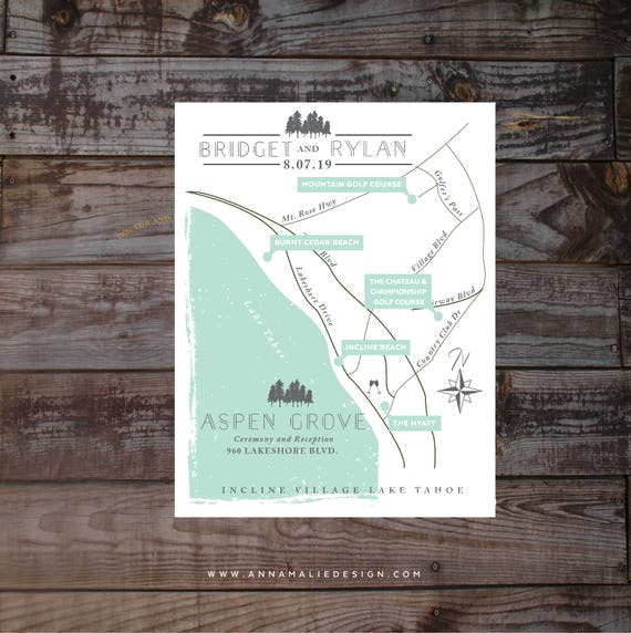 Wedding Invitation Map Event Map Guest Map Driving