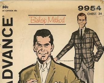 Original Vintage Advance Sewing Pattern - 9954 ca.1960s - UNCUT - FACTORY FOLDED