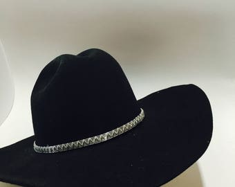 Cowboy hat band Western hat band wire wrapped hatband
