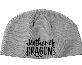 Game of Thrones GOT Mother of Dragons Khaleesi House Beanie Knitted Hat Cap Winter Clothes Horror Merch Massacre Christmas Black Friday