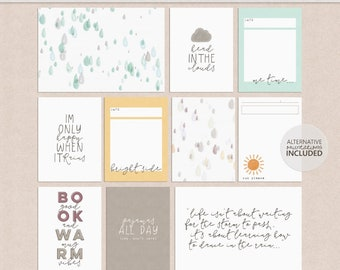 Silver Linings - Journal Cards - Printable