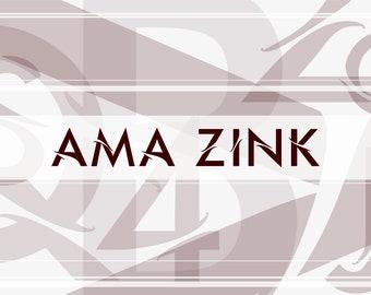 Ama Zink Font