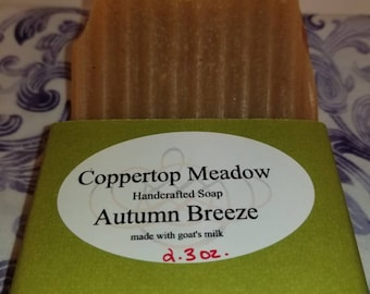 Autumn Breeze goats milk soap