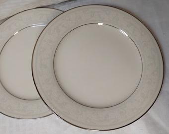 Two (2) NORITAKE Trudy 7087 Salad Plates