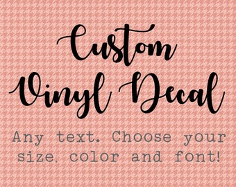 Custom Vinyl Decal Etsy - Custom vinyl decals near me