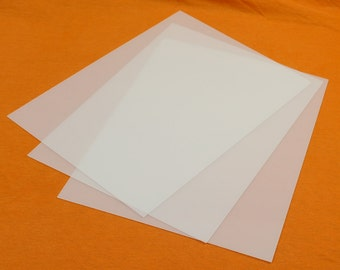 """Clear Polyester Sheet 3 Sheets Thermoplastic Sheet 20 40 80 Thou 0.5mm - 2.0mm A4+  9"""" x12"""""""