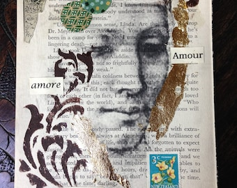 Collage artwork, The Pursuit of Love