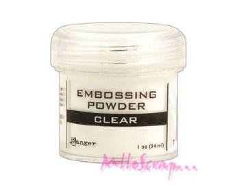Embossing powder transparent storing scrapbooking card making *.