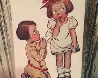 Vintage Katharine Gassaway postcard 1908
