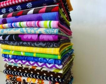 Cloth Napkins Mix - 20 Reusable Paper Towels - Modern Unpaper Towels - Everyday Napkins - Neutral Patterns - 10 x 12 Single Layer