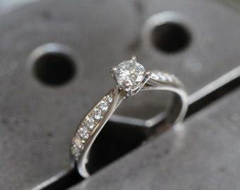 Art Deco Engagement Ring, Alternative Engagement Ring, Diamond Ring, Diamond Engagement Ring, White Gold Ring, Promise Ring for Her