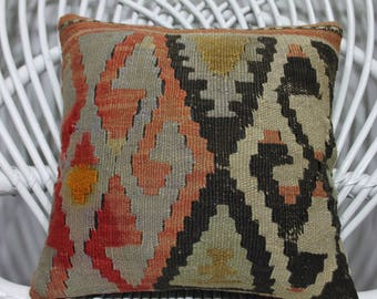 handwoven turkish geometric kilim cushion cover kilim cover pillows couch pillow euro sham12x12 kilim pillow ancient design pillow cover 379