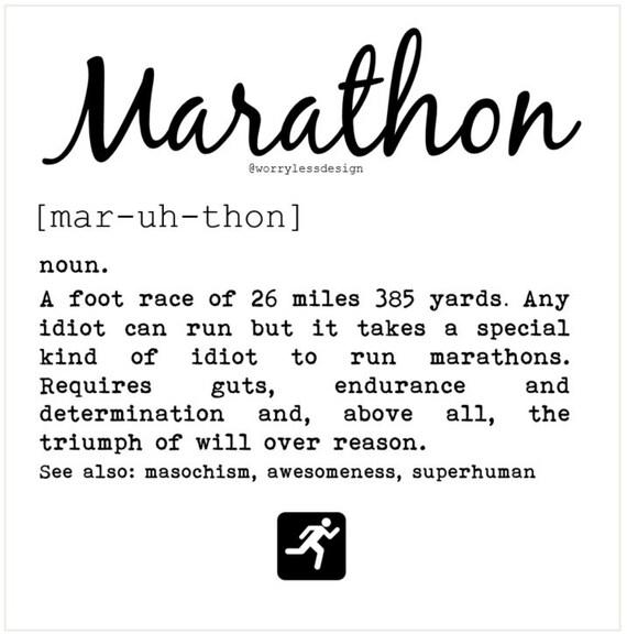 Marathon card marathon definition funny greetings card for m4hsunfo