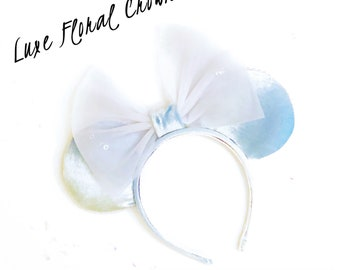 Glass Slipper Ears. Cinderella Ears. Cindy Ears. Minnie Ears. Mickey Mouse Ears