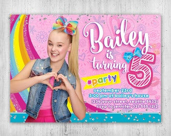 JoJo Siwa Birthday Invitation - Printable Digital File