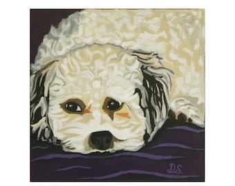 Maltese Dog Print