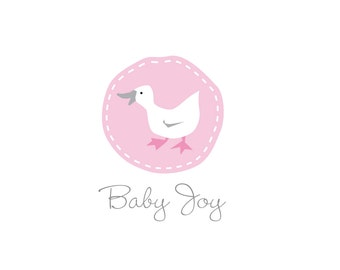 Duck logo for baby boutiques, baby toys, baby food or products. Purchase on line and download.
