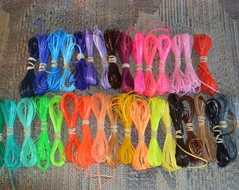 Rainbow lot  340 yards of ALL solid colors rexlace boondoggle plastic lacing gimp lanyard