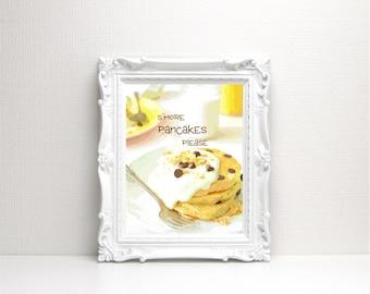 S'more Pancakes Please Digital Art - Instant Download, Pancake Printable, Pancake Art, Breakfast Printable, S'mores, Bakery Art, Sweets