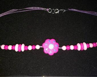117. Multi-strand Flower Choker