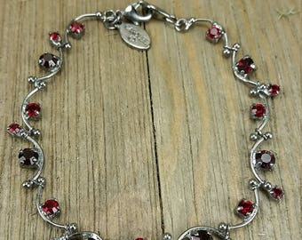 Carolee Red Gemstone Bracelet
