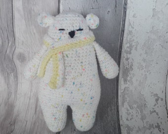 Polar Bear toy - ce tested, teddy bear, crochet bear, white bear, UK