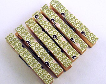 Set of 6 Decorative Clothespins  Altered Clothes Pins in Unconventional