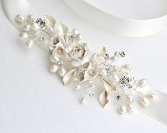 Bridal accessories. Sash. Wedding dress sashes. Belts. Bridal Sash . Ivory bridal sash. Wedding belt. Pearl belt. Wedding sash.