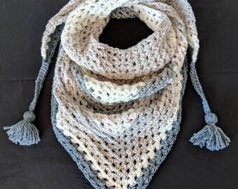 Crochet Kerchief Scarf and Shawl