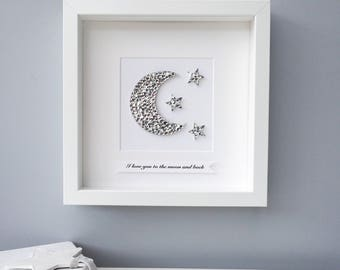 To The Moon And Back Nursery Wall Art Original Painting