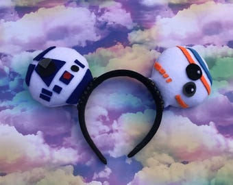 R2D2 and BB-8 Mickey Ears
