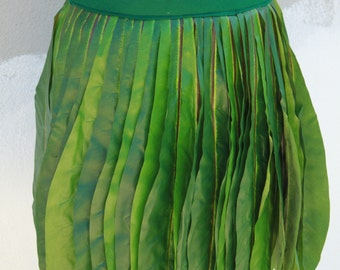 Ti Leaf Hula skirt, made with very real looking silk leaves, Polynesian costume skirt, Tahitian dance costume