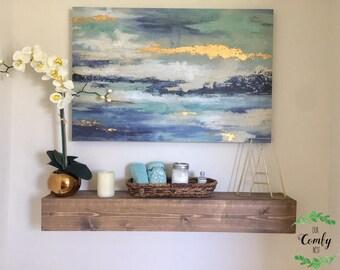 Floating Shelf | Farmhouse Shelf | Rustic Shelf | Wooden Shelf | Wood Shelf | Home Decor