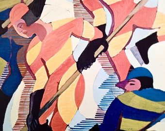 Ernst Kirchner, Hockey Players, Painted in 1937, Marlborough-Gerson Gallery, New York, Large Vintage Print, Shorewood Reproductions