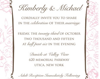 Blush Rose Wedding Invitation Suite