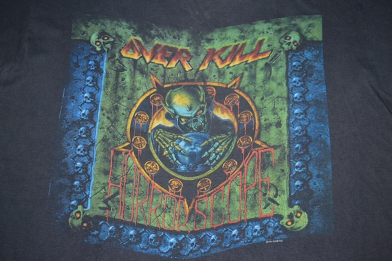T Concert 1991 Vintage OVERKILL shirt Size Tour Horrorscope promo L 90s rare Oqvqw