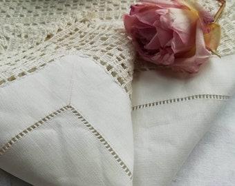 Lovely hand crochet lace edge set of 3 linens